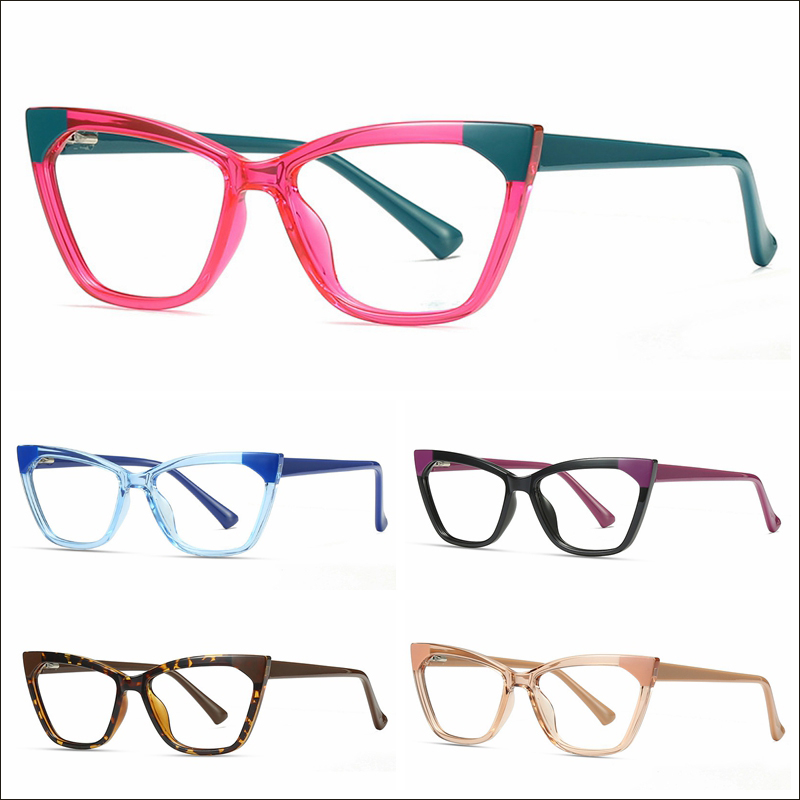 Luxury two tone blue light glasses TR90 optical frame wholesale #N0505