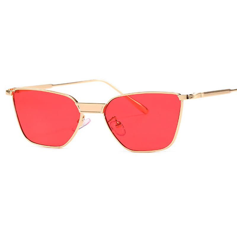 Designer Small Alloy Square Sunglasses Women New J0303