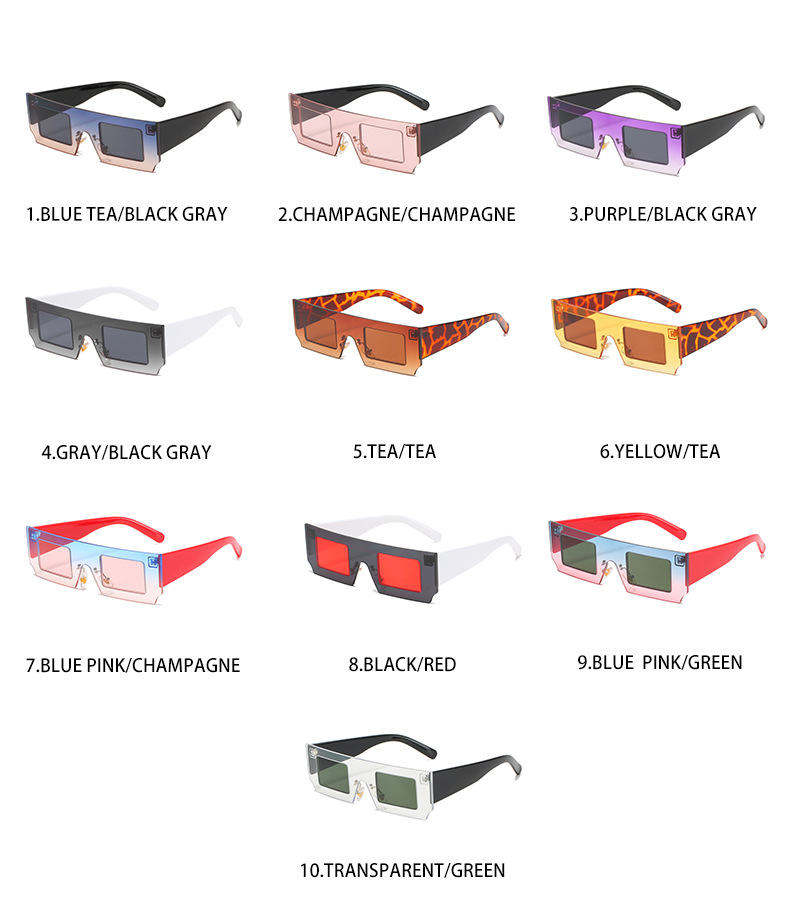 2021new small square vintage women sunglass shades wholesale #F2542