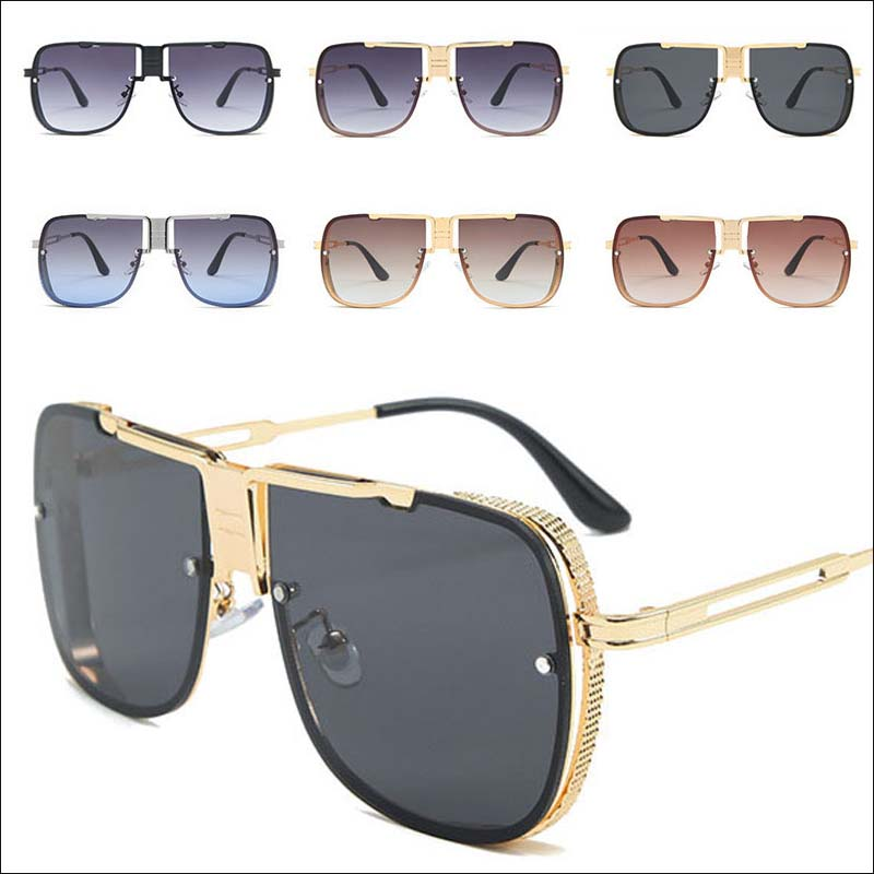 Designer Oversized Square Women Sunglasses Hollow Out F1506