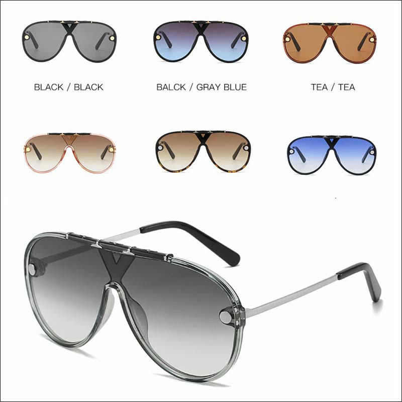 Designer oversized 2021 one piece sunglass shades wholesale #F2513