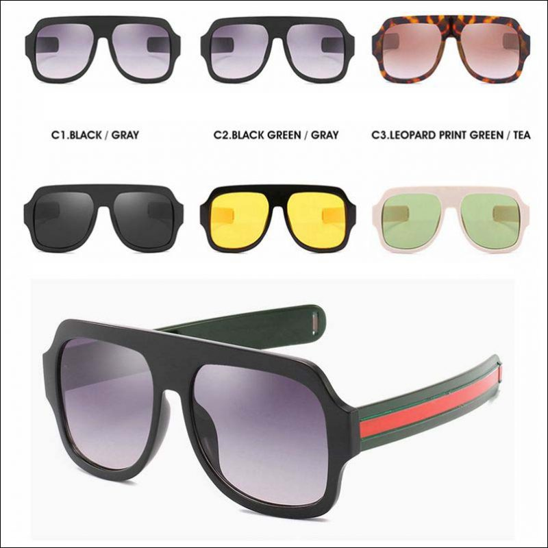 Designer oversized square sunglasses shades wholesale #F2209