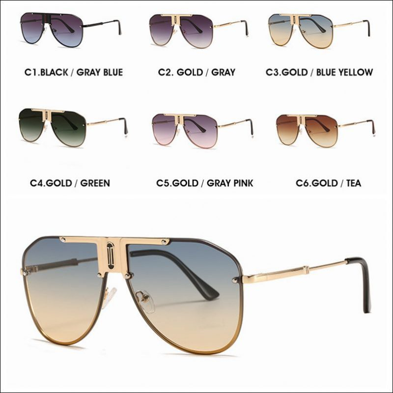 Designer rimless aviator vintage sunglasses shades wholesale #F2204