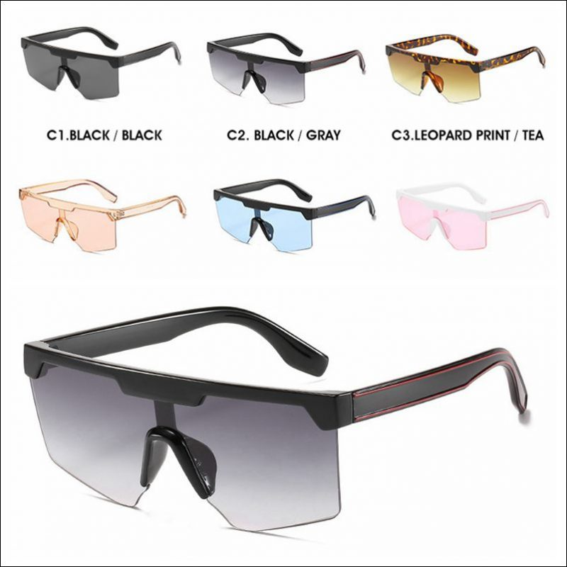 Designer rimless one piece oversized sunglass shades wholesale #F2211