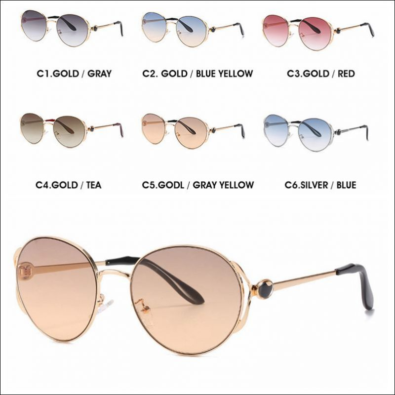 Designer round metal vintage sunglasses shades wholesale #F2205