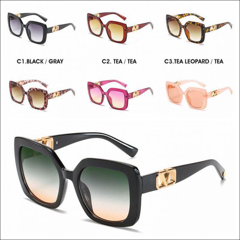 Designer square V vintage sunglasses shades wholesale #F2208