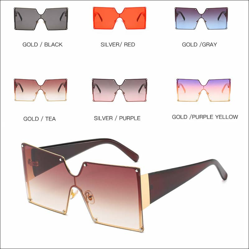 Designer square oversized vintage sunglass shades wholesale #F2515