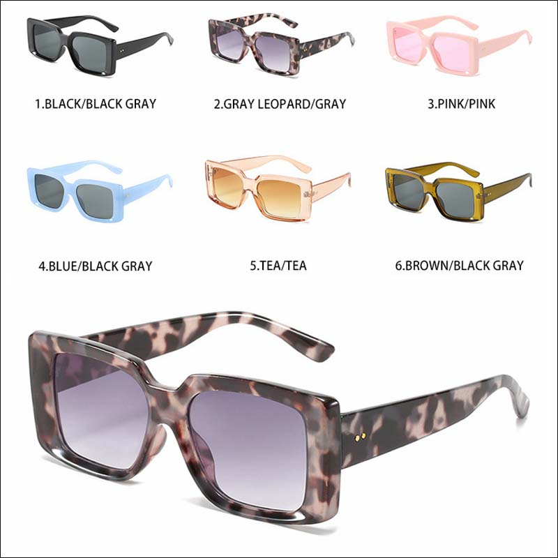 Fashion candy Transparent square sunglass shades wholesale #F2532