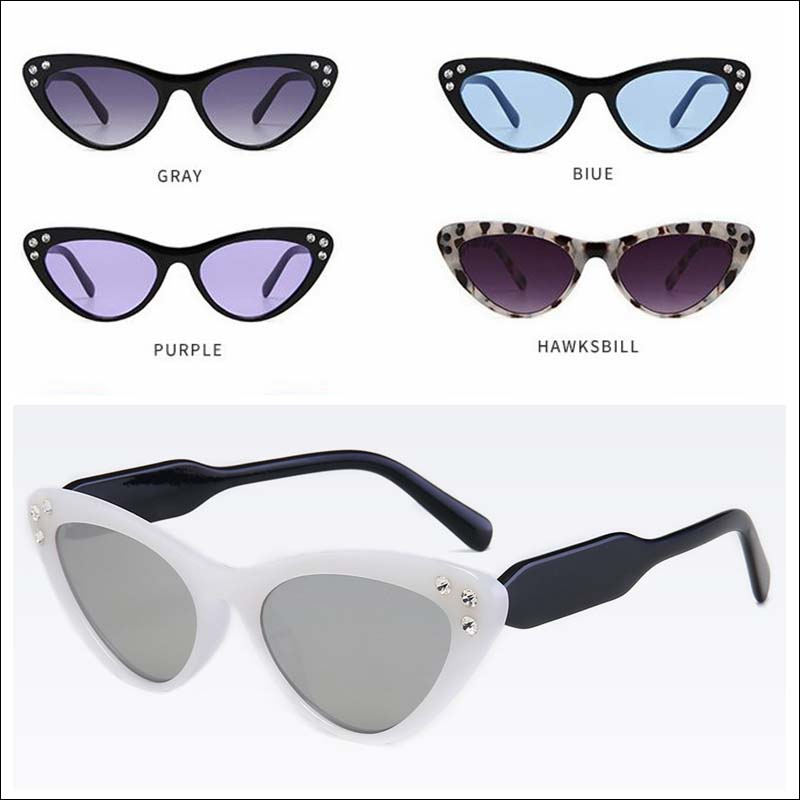 Fashion cateye diamond women sunglass shades wholesale #F2537