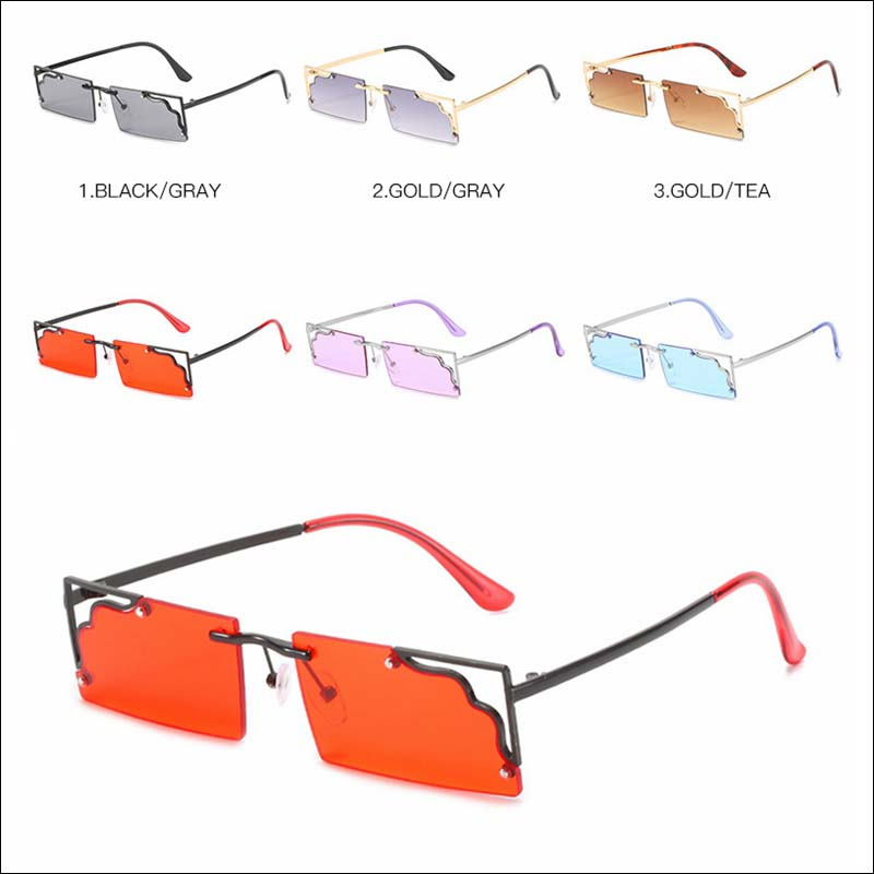 Fashion cut edge small square sunglass shades wholesale #F2535