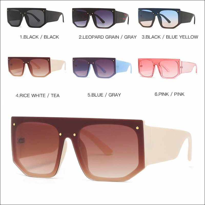 Fashion one piece oversized retro sunglass shades wholesale #F2527