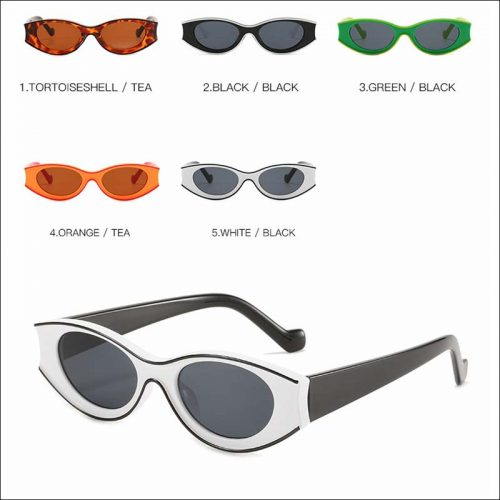 Fashion oval small vintage sunglass shades wholesale #F2522
