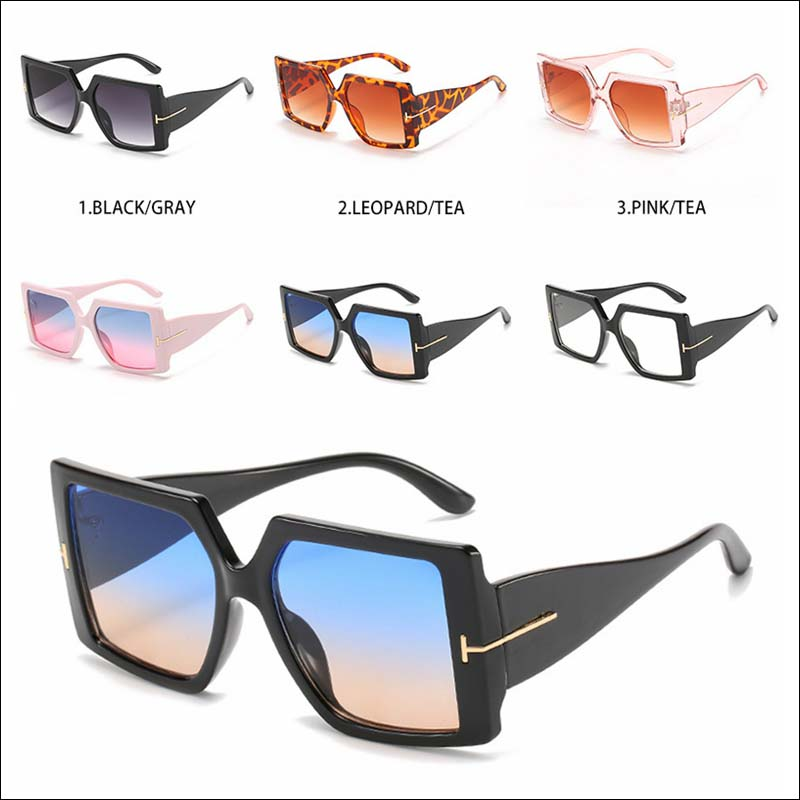 Fashion oversized T women sunglass shades wholesale #F2536