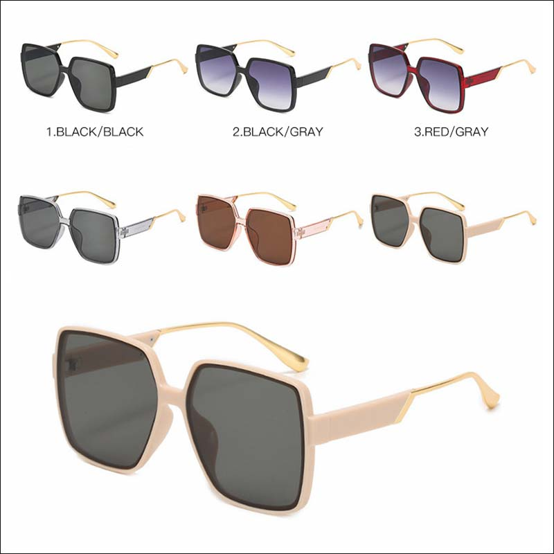 Fashion oversized square retro sunglass shades wholesale #F2526
