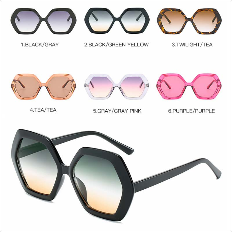 Fashion polygonal vintage women sunglass shades wholesale #F2540