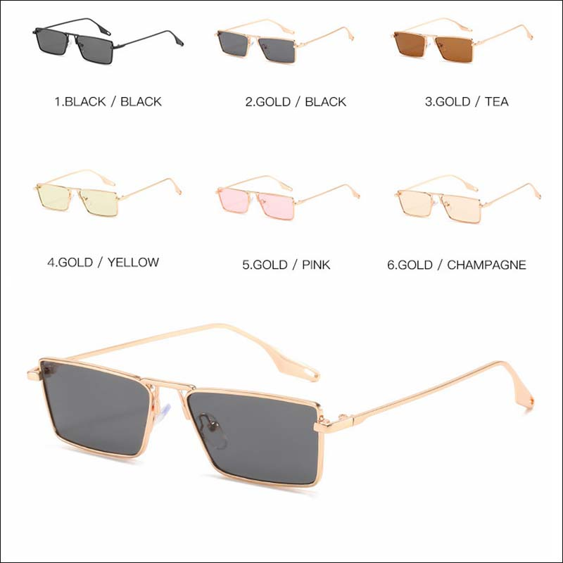 Fashion small square metal vintage sunglass shades wholesale #F2524