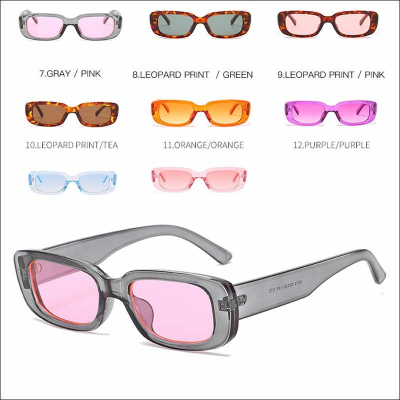 Fashion square small vintage sunglass shades wholesale #F2521