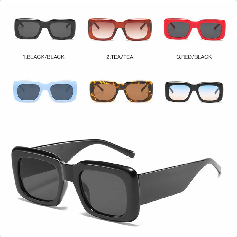Fashion square width temple vintage sunglass shades wholesale #F2520