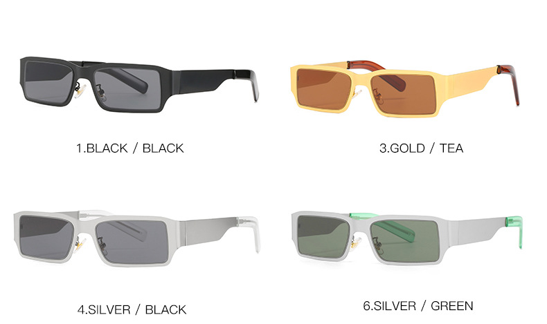 Fashion stainless steel square sunglass shades wholesale #F2529