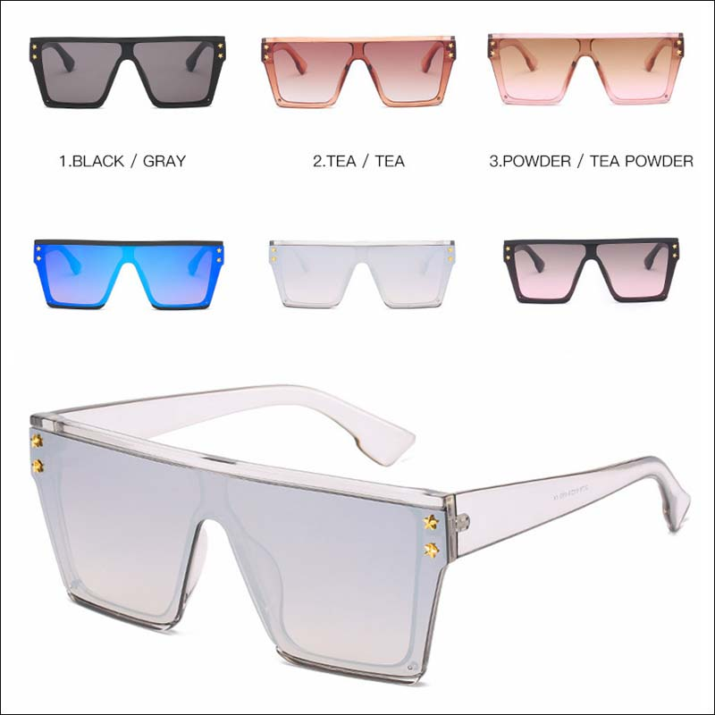Fashion vintage square one piece sunglass shades wholesale #F2518
