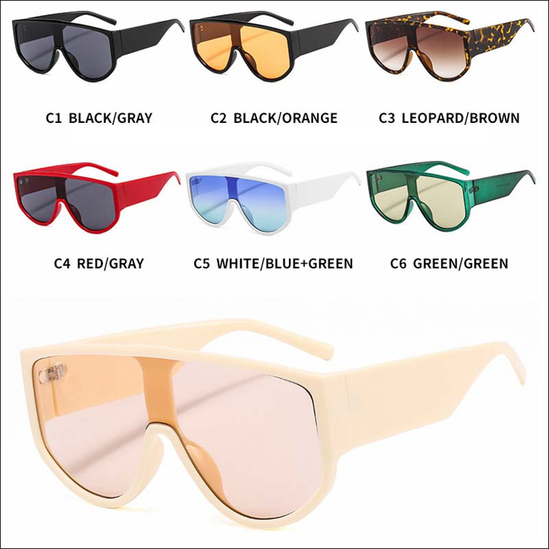 Oversized one piece sunglass shades wholesale #F2610