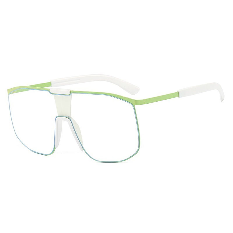 2021 One Piece Square Sunglasses Pilot Clear M1910