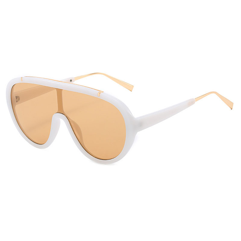 Large frame conjoined piece sunglasses M1124