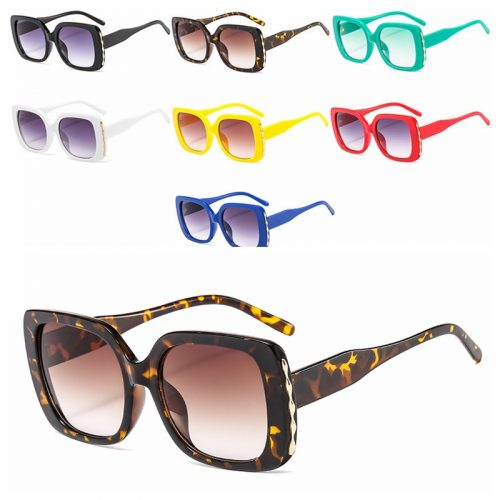 Wholesale oversized red green square sunglasses JY2801