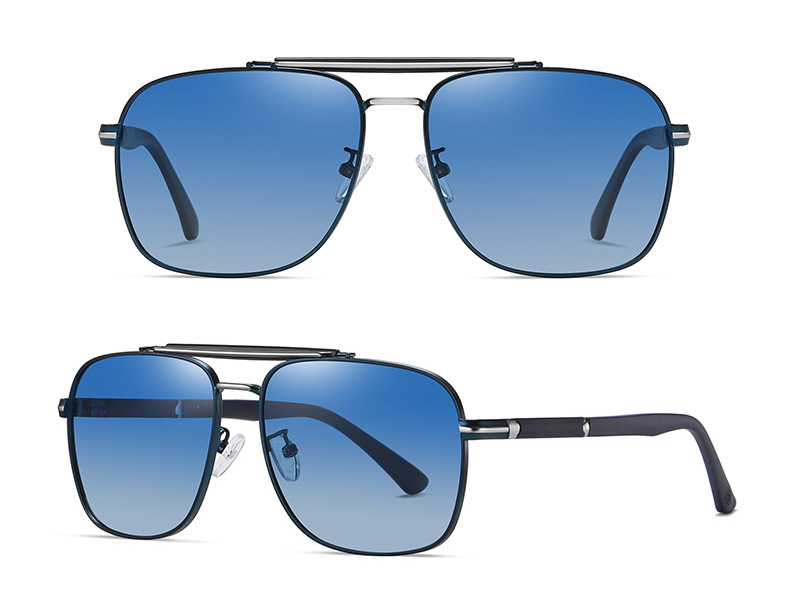 Customized metal square luxury polarized sunglasses for womens mens