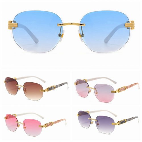 Wholesale rimless marble sunglasses in bulk A9131