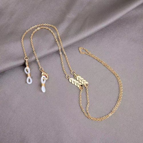 Face mask chain for women gold pearl Wholesale S1014
