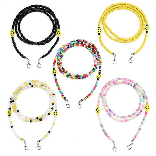 Pearl Smiley chain for face mask glasses wholesale C1001