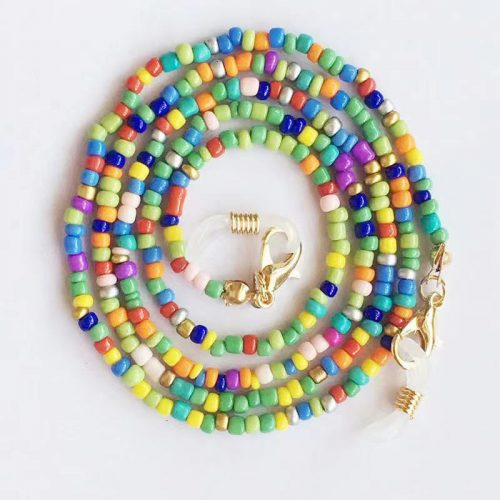 Rainbow beaded Chains for face mask glass sunglasses wholesale C1011