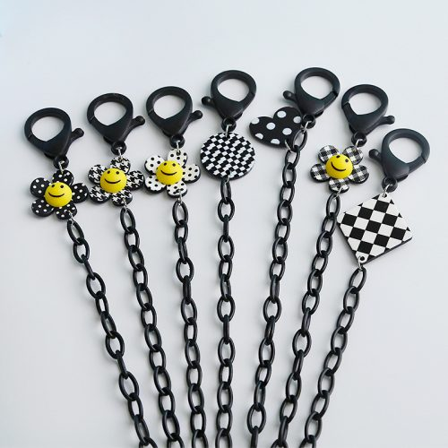 Smiley sunflower chain for face mask sunglasses wholesale C1004