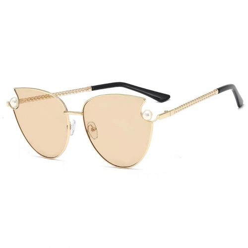 Wholesale cateye rimless sunglasses with peal ladies S1005