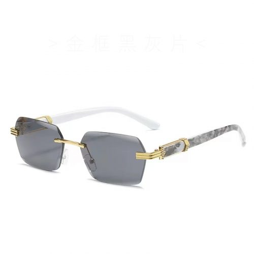 Wholesale marble rimless sunglasses for women mens S1010