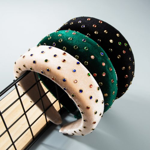 Wholesale thick wide fabric headbands in bulk H0121